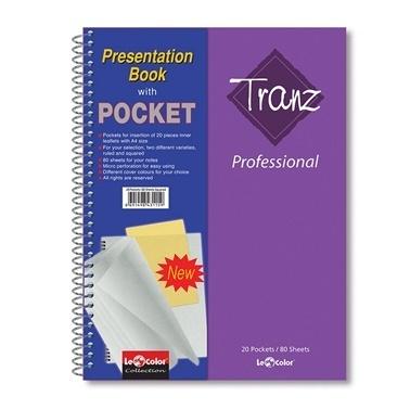 Le Color Tranz Professional 20 Poşet 160 Sayfa Kareli Defter Renkli